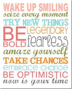 Be Optimistic Subway Art - Motivational, inspiring, power of positive thinking free printable