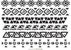 Hawaiian Tribal Pattern Vectors Pack 2 - another awesome Hawaiian tribal pattern Hawaiian Tribal Tattoos, Filipino Tattoos, Korean Makeup Tutorials, Eyeliner Tutorial, Tribal Patterns, Wave Pattern, Symbolic Tattoos, Tattoos With Meaning, Sleeve Tattoos