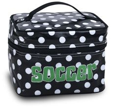 Katz Cosmetic Case Soccer Black/White Dot Sports Katz. Save 7 Off!. $17.99