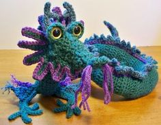 Free Crochet Pattern: Oriental Dragon
