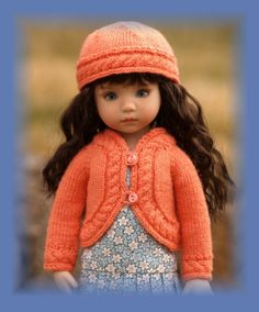 """""""Curved Cabled LD"""" Knitting Pattern for Effner's 13"""" Little Darling Dolls 