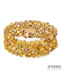 Beautiful! ZYDO Made In Italy Sapphire Bracelet Designed In 18K Yellow Gold at Modnique.com