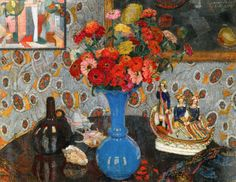 Leon De Smet - Still Life with Flowers and Shells