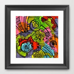 doodle Framed Art Print by Colli13 - $34.00