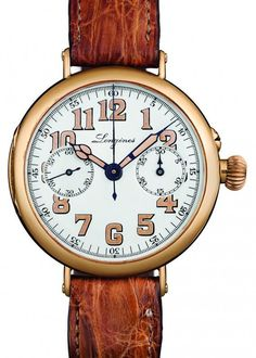 The original @longineswatches Heritage 1918 chronograph watch. More @ http://www.watchtime.com/wristwatch-industry-news/watches/history-boys-three-new-longines-heritage-watches/ #longines #watchtime #vintagewatches #Baselworld2016