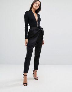 cfa751e0a9 Shop Lavish Alice Tailored Trousers In Satin at ASOS.