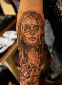 Day of the dead tat...what amazing detail!!