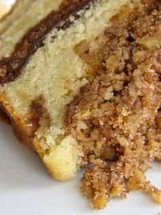 Sour Cream Coffee Cake with Brown Butter Struesel ...Thank You Hungry Rabbit