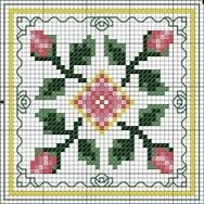 「free cross stitch chart - biscornu cherry」の画像検索結果