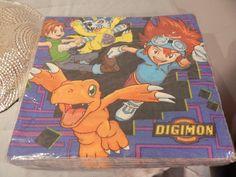 Digimon Birthday Party Luncheon Napkins Package of 16  6 1/2 x 7 2000 Hallmark #PartyExpress #BirthdayChild