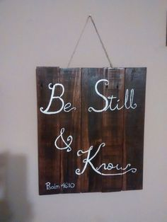 Wooden plaque sign. Wood is stained and quote is hand painted. Approx. 18x20. We are happy to take custom orders. You choose the quote, we make