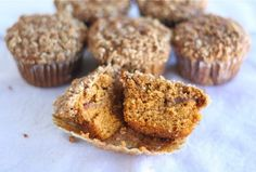 Pumpkin Cinnamon Streusel Muffins: These are moist and really yummy! I really like the Cinnamon swirl on the inside! I doubled this recipe for Mylee's class and discovered that there is no need to double the Streusel. I had a ton of leftover!