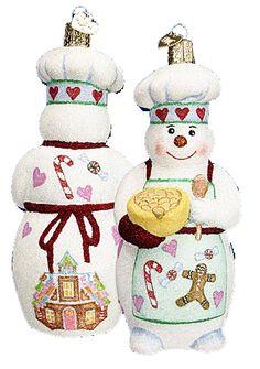 Love this one. Glistening Snowman Chef