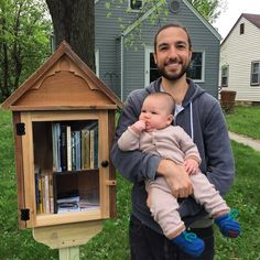 I've wanted a little free library for years and we finally got one! (If you're interested, find Jon Blake on Facebook. He makes premium libraries for reasonable prices!) #books #littlefreelibrary