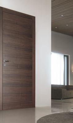Balance and strenght of a curved triangular. Modern Entrance Door, Modern Wooden Doors, Wooden Door Design, Modern Door, Bedroom Door Design, Bedroom Cupboard Designs, Door Design Interior, Classic House Exterior, Indoor Doors