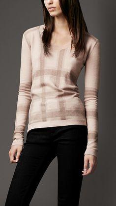 Check Cashmere Sweater | Burberry