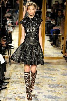 Eva Longoria wearing Marchesa Fall 2012 Rtw Laser-Cut Dress.