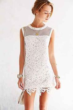 Cameo Swing Star Mesh + Lace Dress - Urban Outfitters