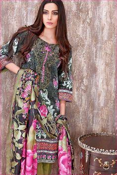 Gul Ahmed Eid Lawn Satin Silk Designs Collection 2016
