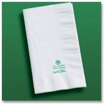White Earth Wise Recycled Dinner Napkin  #gscertified #green #sustainable