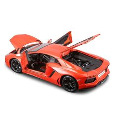 diecast auto world welly 118 scale lamborghini aventadorlp700 4 orange diecast car