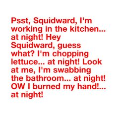 SpongeBob Quote:) ❤ liked on Polyvore