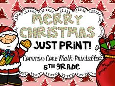 Print and Go! Math Printables for 5th Grade CCSS $