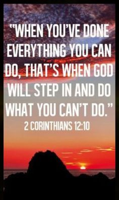 Fulfill what you are supposed to fill and God will fill in the GAPS