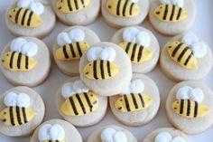 Bumblebee cookie nibbles - CraftedCookies.etsy.com
