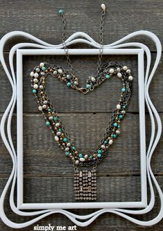 Vintage Rhinestone Turquoise and Pearl Layered One by simplymeart, $78.00
