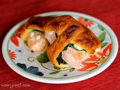 A baked salmon and spinach crescent roll is a healthy, simple dinner.