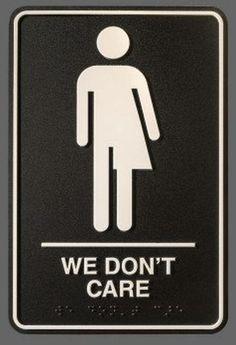 All Gender Restroom Sign Whatever Just Wash Your Hands Standing - Handicap unisex bathroom signs