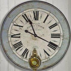 Cafe La Tour Blue Rim Large Wooden Pendulum Wall Clock by Belle Maison, http://www.amazon.co.uk/dp/B00I5QODCC/ref=cm_sw_r_pi_dp_Un3dtb13Q6EJ3
