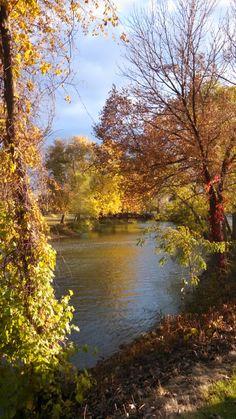 Fall along the Riverwalk in Batavia Illinois