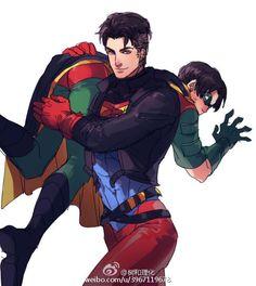Superboy and Robin