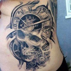 flower watch skull tattoo - Google-søk