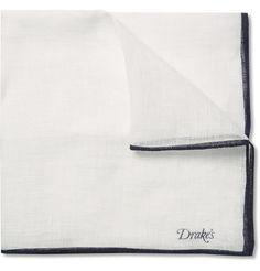 Drake's Linen Pocket Square   MR PORTER