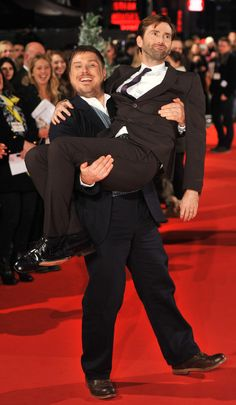 David Tennant (Doctor 10) with Marc Wooton