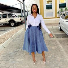 African Traditional Wedding Dress, Traditional African Clothing, Traditional Skirts, Traditional Outfits, Seshoeshoe Designs, African Dress Patterns, A Line Skirt Outfits, Shweshwe Dresses, Chic Couture Online
