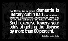Anything I can do to prevent dementia. Exercise the body and the brain. #Alzheimer Prevention.