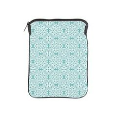 Aqua Sky & White Lace Tile 2 iPad Sleeve. New lace design. More color selections to come.