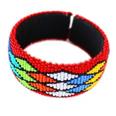 Red Zulu beaded bangle