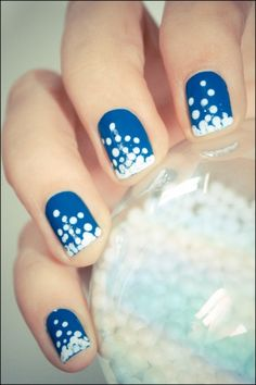 50 Ideas para pintar uñas color azul - Blue Nails | Decoración de Uñas - Manicura y Nail Art