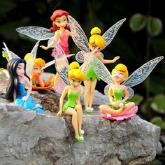 6pcs/Set Christmas Kids Gift Tinkerbell Dolls Flying Flower Fairy Children Animation Cartoon Toys Girls Dolls Baby Toy RT016