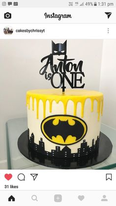 Batman cake by cakesbychrissyt #ad