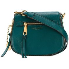 Marc Jacobs Recruit Small Grained Leather Saddle Bag In Green Jewel Best Handbags, Fashion Handbags, Fashion Bags, Leather Saddle Bags, Leather Purses, Leather Handbags, Leather Shoulder Bag, Shoulder Bags, Shoulder Handbags
