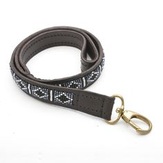 Hand beaded leather dog lead by Zinj Design and available at www.malulu.co.uk/shop