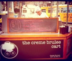 San Francisco, Creme Brulee Cart is in the Financial District. I saw it there, cash only though and I had debit card only!