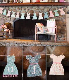 Baby Girl Shower Garland - Dresses