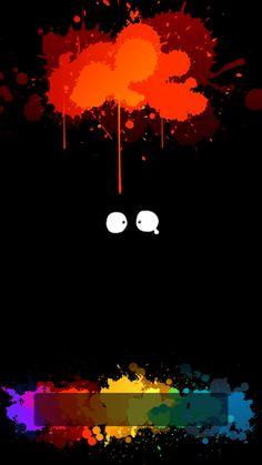 ↑↑TAP AND GET THE FREE APP! Lockscreens Art Creative Eyes Fun Multicolour Black Painting HD iPhone 6 Lock Screen
